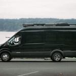 side view of the van